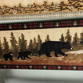 Mayberry Rugs Rubber Backed Mat Cozy Cabin Following Mama