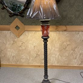 Pacific Coast Lighitng - 85-3812-G7 - Floor Lamp - Nite Lite in Pinecone Base - Glacier Mountain Collection by Dick Idol