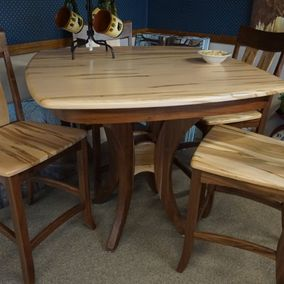 Amish - Galveston Counter Height Dining Table & Chairs