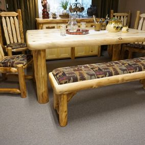 Rustic Log - Aspen Wood Dining Table & Chairs