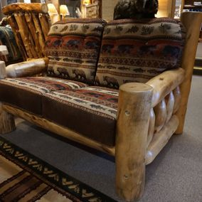 Rustic Log Furniture - Rustic Comfort Collection Loveseat