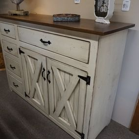 Fighting Creek - Amish - Kitchen Helper Cabinet