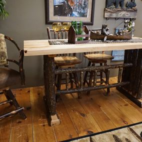 Brage - Amish - Counter Table & 3 Stool Variations
