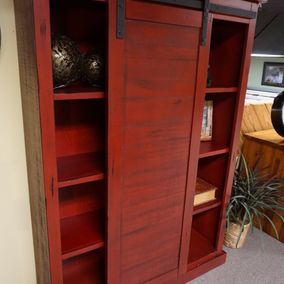 Sunny Designs - Sliding Barn Door Bookcase