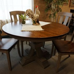 Amish - Toledo Dining Table & Cheyenne Side Chair