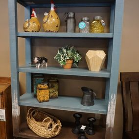 IFD - Urbana Collection - Blue Bookcase Pantry