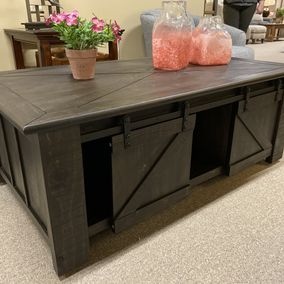 Magnussen - Garrett Collection Occasional Tables - Sliding Barn Door Coffee Table