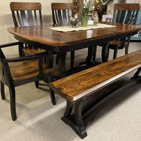 Amish - Richfield Double Pedestal Table & Krilow Chhairs