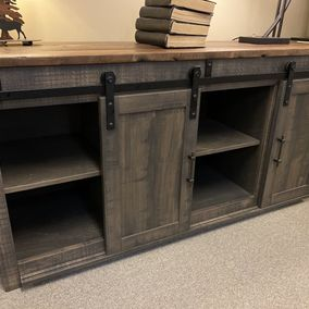"Hogback Woodworking - Amish - 60"" TV Console"