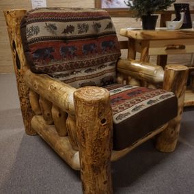 Rustic Log Furniture - Rustic Comfort Collection Chair