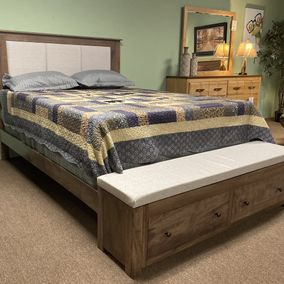Daniels Amish Upholstered Manchester Bed Storage