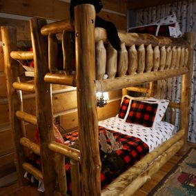 Rustic Log Furniture Aspen Bunkbed
