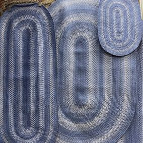 Homespice Decor Denim Braided Jute Rug