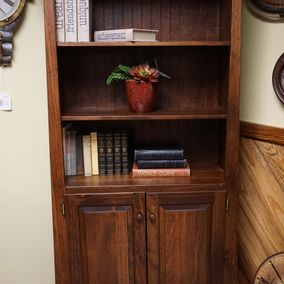 Fighting Creek - Amish -Two Door Slant Top Bookshelf